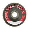 "Weiler 50132 4-1/2"" Flap Disc,  7/8"",  80 Grit,  Type 27 Ceramic,  Saber Tooth Series"