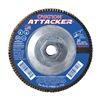 "United Abrasives-Sait 76348 6"" Flap Disc,  7/8"",  60 Grit,  Type 27 Zirconia Alumina,  Ovation Attacker Series, Pack of 10"