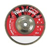 "Weiler 50139 7"" Flap Disc,  5/8""-11,  40 Grit,  Type 27 Ceramic,  Saber Tooth Series"
