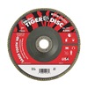 "Weiler 50136 7"" Flap Disc,  7/8"",  40 Grit,  Type 27 Ceramic,  Saber Tooth Series"