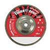 "Weiler 50140 7"" Flap Disc,  5/8""-11,  60 Grit,  Type 27 Ceramic,  Saber Tooth Series, Pack of 10"
