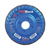 """United Abrasives-Sait 70801 4-1/2"""" Flap Disc,  7/8"""",  40 Grit,  Type 29 Zirconia Alumina,  Trimback Series"""