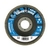 "Weiler 50514V 4-1/2"" Flap Disc,  7/8"",  60 Grit,  Type 29 Zirconia Alumina,  Tiger+?-? Series, Pack of 5"