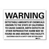 Lyle U6-1051-RD_14X10 Warning Sign, Black/White, 14 in. W, Text