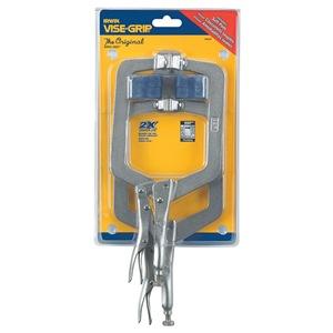 Irwin Vise-Grip Locking C-Clamp Set, 4JA65 w/Pads, 2 Pcs at Sears.com