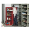 Justrite 892201 Safety Cabinet, Slimline, 22 gal, Red