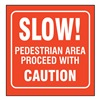 Zing 2560 Traffic Sign, 7 x 12In, WHT/R, Text