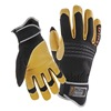 Proflex ProFlex Mechanics Glove, Black/Tan, 2XL, PR