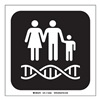 Brady 142583 Genetics Sign, 8 x 8 In, SS