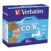 Verbatim VER96319 CD-R Disc, 700 MB, 80 min, 52x, PK 5
