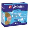 Verbatim VER96319 CD-R Disc, 700 MB, 80 min, 52x, PK 5