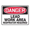 Accuform MCAW121VS Danger Sign, 10 x 14In, R and BK/WHT, ENG