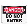 Accuform MADMD05XP Danger Sign, 10 x 14In, R and BK/WHT, ENG