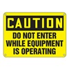 Accuform MEQM673XP Caution Sign, 10 x 14In, BK/YEL, ENG, Text