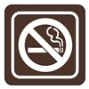 United Visual Products UVOS1035 No Smoking Sign, 3 x 3In, WHT/BR, ACRYL, SYM