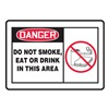 Accuform MSMK015VS Danger No Smoking Sign, 10 x 14In, ENG