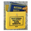 Display Specialists Corporation JOB 844 Outdoor MSDS Cabinet, Yellow