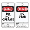 Electromark 5010-C-B Danger Bilingual Tag, 5-3/4 x 3 In, PK25