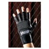 Valeo VI4859MEWWGL Mechanics Gloves, Black, M, Fingerless, PR