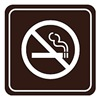 Intersign 62184-5 COLONIAL BLU No Smoking Sign, 5-1/2 x 5-1/2In, PLSTC