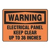 Accuform MELC309VS Warning Sign, 7 x 10In, BK/ORN, ENG, Text