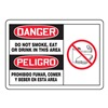 Accuform MSSM009VP Danger No Smoking Sign, 10 x 14In, PLSTC