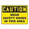 Accuform MPPEC41VA Caution Sign, 10 x 14In, BK/YEL, AL, ENG