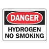 Accuform MCHL072VA Danger No Smoking Sign, 7 x 10In, AL, ENG