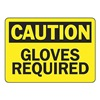 Accuform MPPEC25VP Caution Sign, 10 x 14In, BK/YEL, PLSTC, ENG