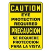 Accuform MSPP619XF Caution Sign, 20 x 14In, BK/YEL, Fiberglass