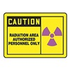 Graphic Alert MRAD631VP Caution Radiation Sign, 10 x 14In, PLSTC