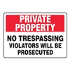 Accuform MATR510VA Admittance Sign, 10 x 14In, BK and R/WHT