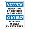 Accuform MSPN14VS Notice Sign, 14 x 10In, BL and BK/WHT, Text