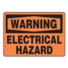 Accuform MELCW21VA Warning Sign, 10 x 14In, BK/ORN, AL, ENG