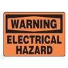 Accuform MELCW21VA Warning Sign, 10 x 14In, BK/ORN, AL, ENG