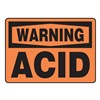 Accuform MCHL316VS Warning Sign, 7 x 10In, BK/ORN, Acid, ENG