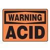 Accuform MCHL316VS Warning Sign, 7 x 10In, BK/ORN, Acid, ENG
