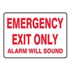 Accuform MEXT551VA Emergency Exit Fire Sign, 7 x 10In, R/WHT
