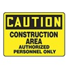 Accuform MEQM602VA Caution Sign, 10 x 14In, BK/YEL, AL, ENG