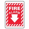 Accuform MFXG448VS Fire Alarm Sign, 10 x 7In, WHT/R, Fire ALM