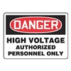 Accuform MELC135VP Danger Sign, 7 x 10In, R and BK/WHT, PLSTC