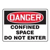 Accuform MCSP230VA Danger Sign, 10 x 14In, R and BK/WHT, AL