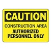 Accuform MCRT602VS Caution Sign, 7 x 10In, BK/YEL, Self-ADH