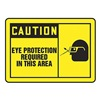Accuform MPPE413VA Caution Sign, 10 x 14In, BK/YEL, AL, ENG