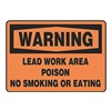 Accuform MCAW302VP Warning No Smoking Sign, 7 x 10In, BK/ORN