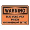 Accuform MCAW302VP Warning No Smoking Sign, 7 x 10In, BK/ORN