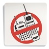 Sign Comply 42453 Phone Sign, 5 x 15In, R and BK/WHT, PLSTC