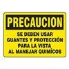 Accuform MSPP627VA Caution Sign, 7 x 10In, BK/YEL, AL, Spanish