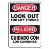 Accuform MSVH001VA Danger Sign, 14 x 10In, R and BK/WHT, AL