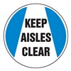 Accuform MFS215 Floor Sign, 8In, Keep Aisles Clear, PK 2